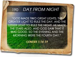 God's creation of day versus night in the Biblical Calendar